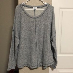 Old Navy heavy blue thick top